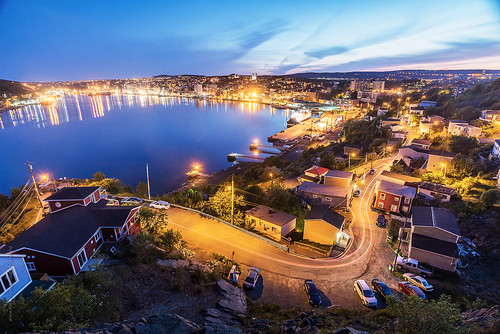 road lighting street city longexposure summer cloud house canada skyline night newfoundland landscape evening twilight nikon downtown cityscape harbour hill stjohns lighttrails bluehour nfld thebattery atlanticcanada d600 stjohnsharbour newfoundlandandlabrador downtownstjohns nikond600