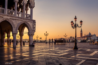 Sunrise near Palazzio Ducale (Doge's Palace) and Piazza San Marcos (St. Mark's Square) - Venice, Italy | by Phil Marion (184 million views - THANKS)