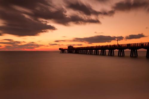 longexposure morning light sea sky seascape clouds sunrise landscape dawn pier dock florida le atlanticocean daybreak pompanobeach