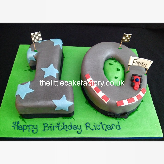 Swell Racing Track Number 10 Cake Racing Car Track Speed 10 Flickr Funny Birthday Cards Online Ioscodamsfinfo