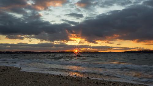 sunset ny newyork beach huntington longisland flare suffolkcounty hobartbeach eatonsneck