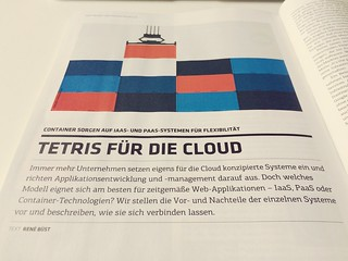 "My new piece ""Tetris für die Cloud"" on Container, IaaS and PaaS has been published in t3n (issue 44). 