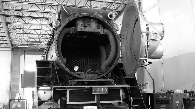 Southern Pacific 4449 Rebuild Black and White