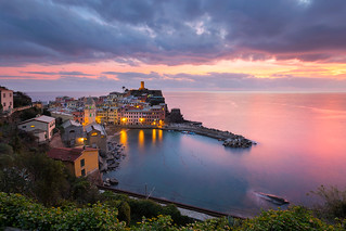 Vernazza Dressed In Pink And Blue | by Luca Libralato