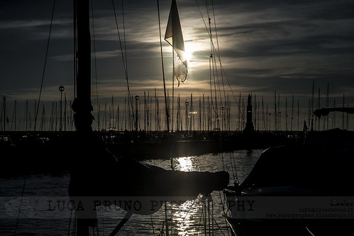Sunset at the harbour