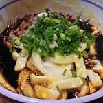 ちとせ@宇治山田で玉子入り肉伊勢うどん。混んでなくてよかった。  #food