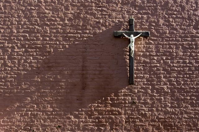 Shadow of a crucifix
