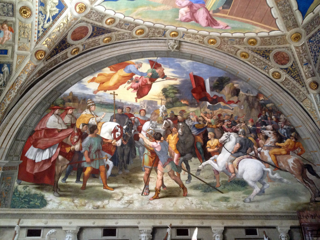 Room of Heliodorus - The Meeting of Leo the Great and Attila