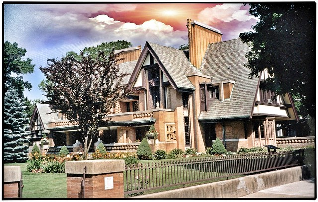 Nathan G. Moore House ~ Architect ~ FL Wright ~ Oak Park Il ~ My Film 1996