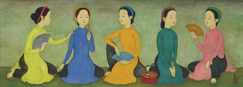 Mai Trung Thứ (1906-1980) - Năm cô gái trẻ - CINQ PETITES … | Flickr