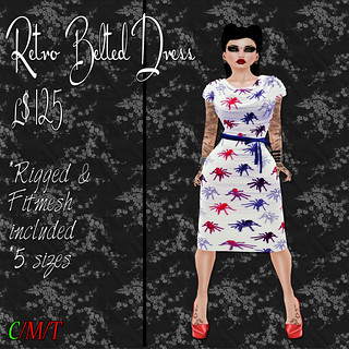 SC Retro Belted Dress - Arachnophobia Ad