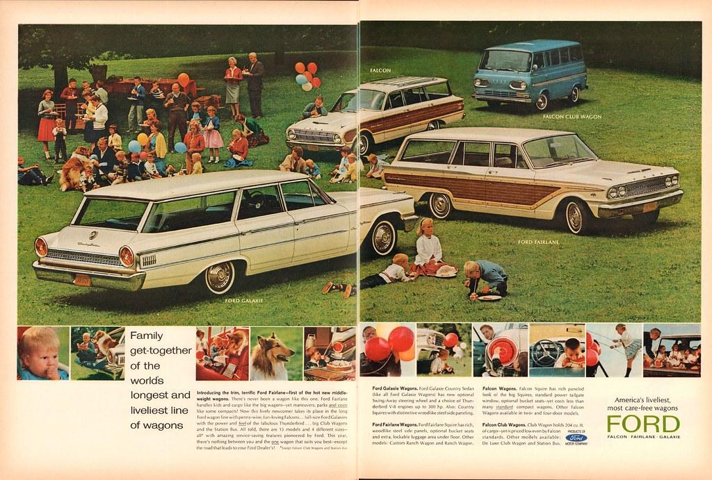 1963 Ford Galaxie - Fairlane - Falcon - Falcon Club Wagon