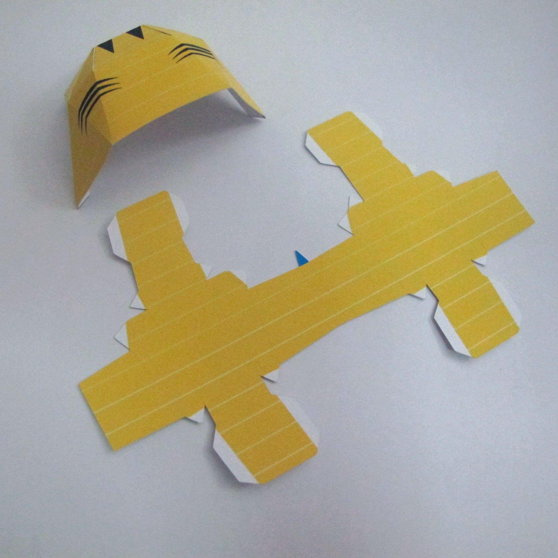วิธีทำของเล่นโมเดลกระดาษ วูฟเวอรีน (Chibi Wolverine Papercraft Model) 025