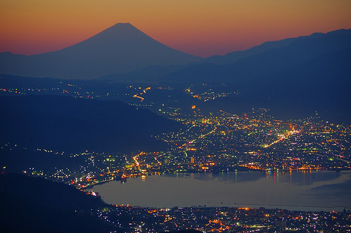 lake nature japan sunrise landscape nightshot nagano 富士山 mtfuji beautifulscenery suwako 諏訪湖 beautifulearth 朝焼け 高ボッチ高原