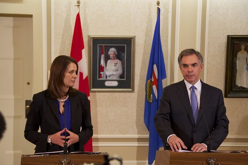 Jim Prentice and Danielle Smith | by dave.cournoyer
