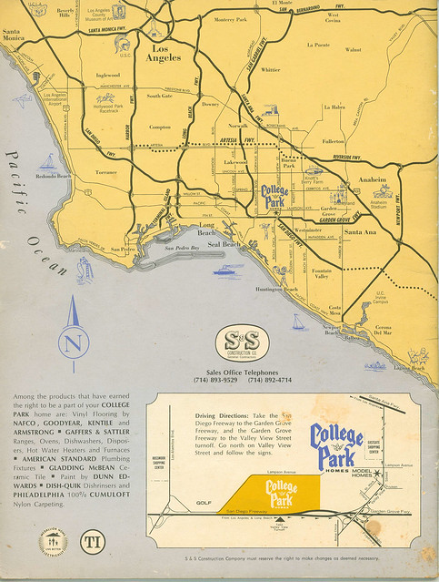 College Park East Brochure - back cover