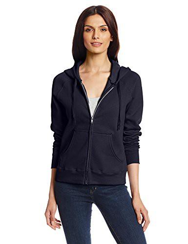Hanes Women's Ecosmart Fleece Hooded Sweatshirt, Deep Navy, X-Large