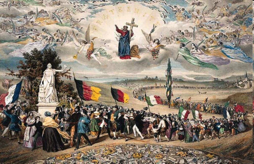 Frederic Sorrieu S Painting Of Revolution Under Christ S W Flickr