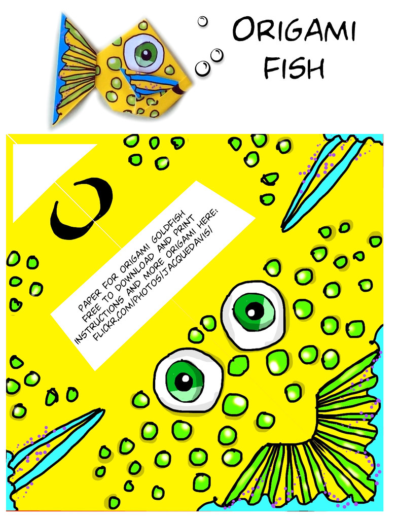 origami fish instructions | Instructions for a traditional o… | Flickr | 1023x783