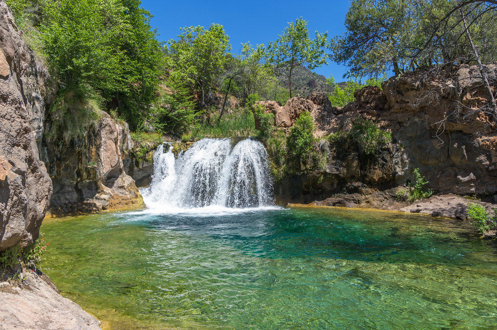 Waterfall Trail On Fossil Creek A Large Natural