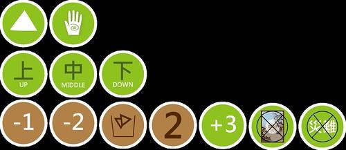 《濕情畫地》災難卡與維護卡的圖示icon。 | by TEIA - 台灣環境資訊協會