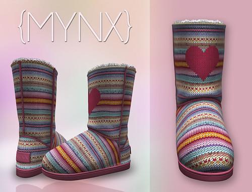 {MYNX} Bootie - Heart Stripes