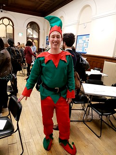 ELF DAY!   Tim McLachlan. London Region Operations Director. Alzheimer's Society.Tim spent Alzheimer's Society London Region Management Away Day at Wesley Chapel City Road....  dressed as an elf...raising much needed funds for people affected by dementia.