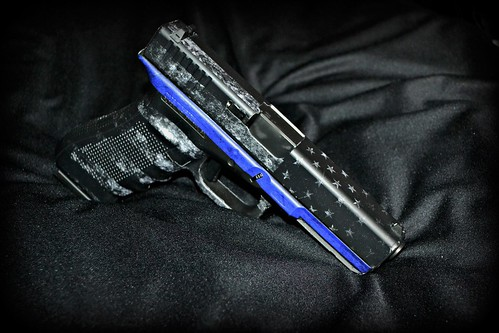 Thin Blue Line Pistol Skin