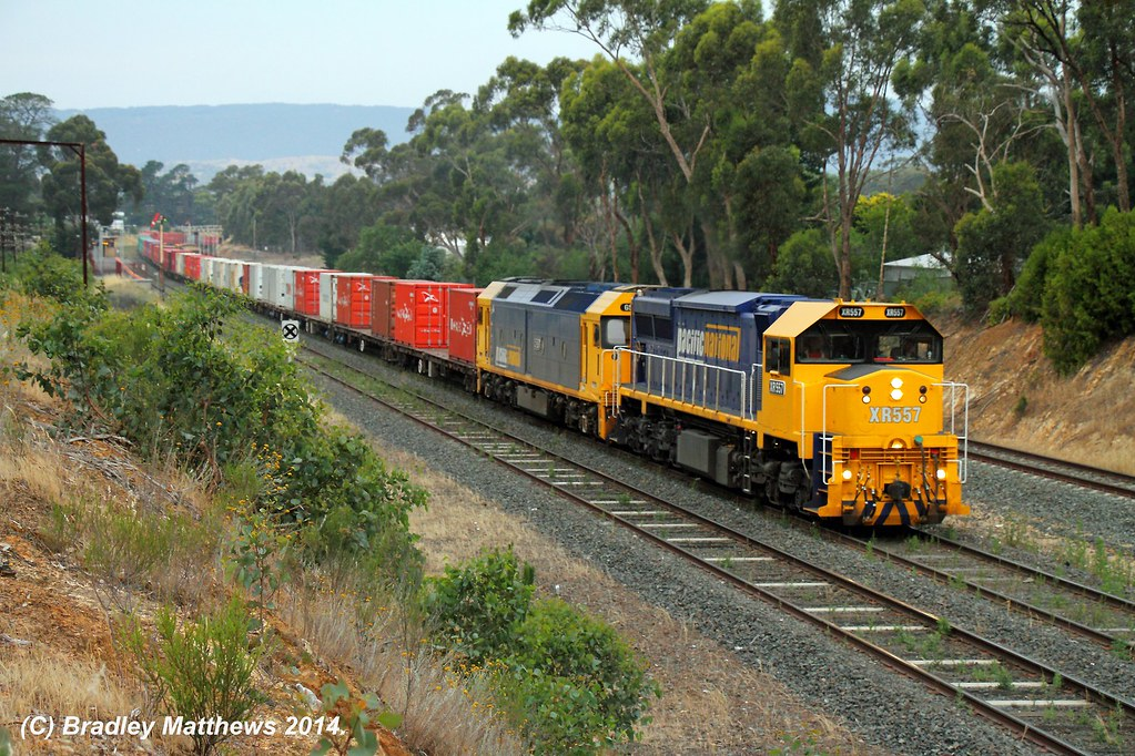 XR557-G531 with #9306 up Tocumwal freight at Broadford (3/12/2014) by Bradley Matthews
