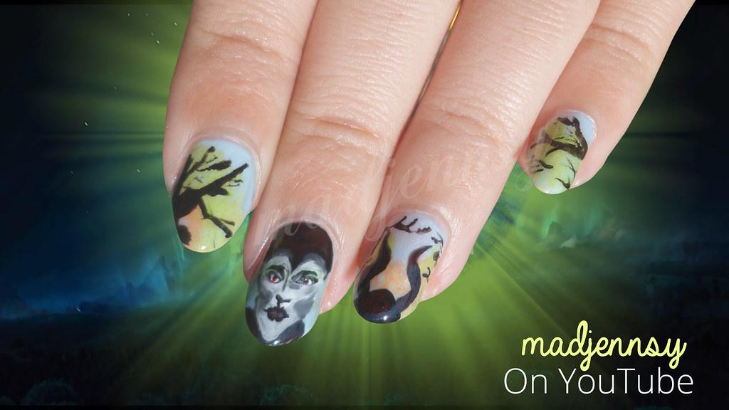 Maleficent Nail Art Watch Hd Nail Tutorial Youtu Be K5ngj