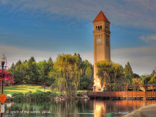 parks riverfrontpark spokaneriver theclocktower naturewatcher nikonflickraward spokanewashingtonstate