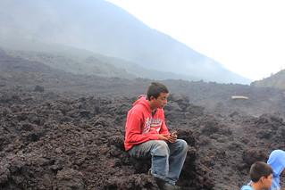 Pacaya, former lava stream