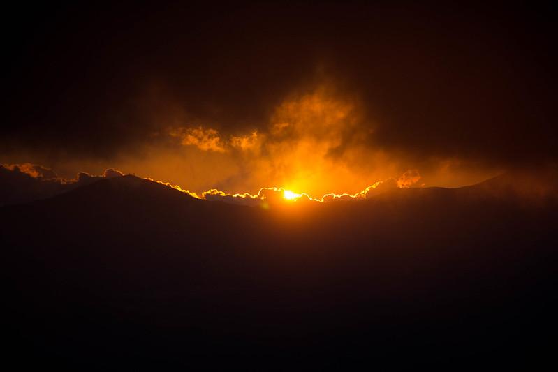 達磨山の初日の出