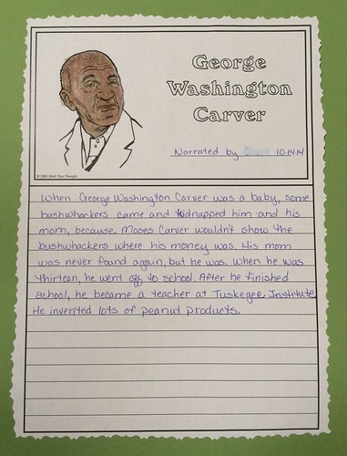 George Washington Carver Notebook Page | by prayingmother