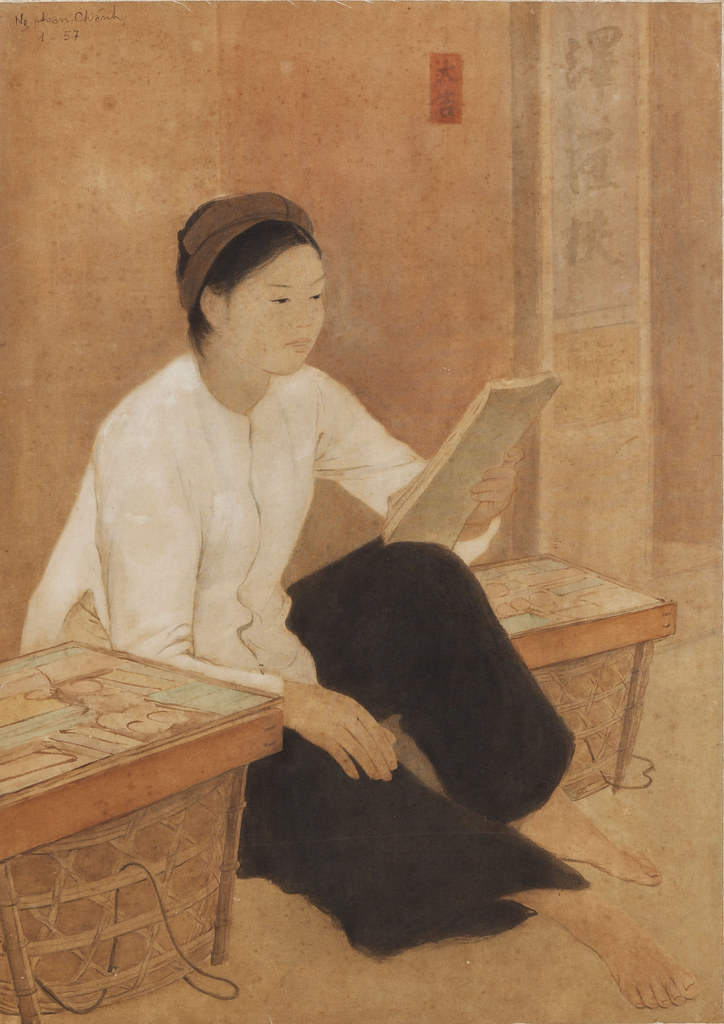 Bức họa 'Cô hàng xén' của Nguyễn Phan Chánh | manhhai | Flickr