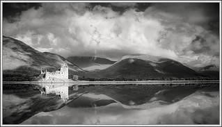 Kilchurn Castle, Loch Awe (black&white) | by ShinyPhotoScotland
