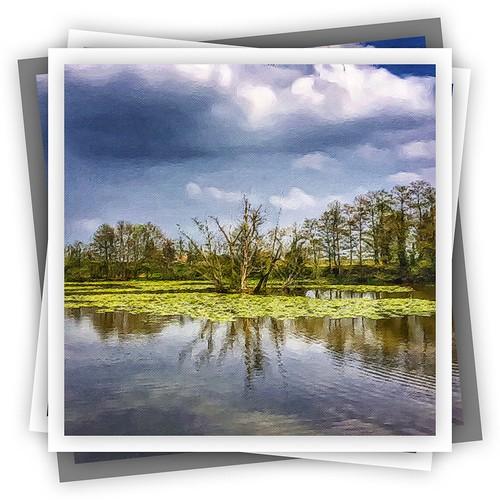 lake painterly water landscape outdoor serene iphone brushstroke astley fishingpool photoborder iphone365 iphoneography snapseed laminarpro exposergl