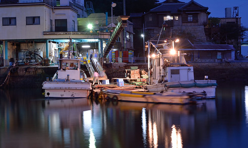 sunset sea water japan night boats coast seaside nikon photographer harbour ships hiroshima fukuyama
