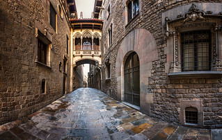 Barri Gothic Quarter and Bridge of Sighs in Barcelona, Catalonia, Spain | by ansharphoto