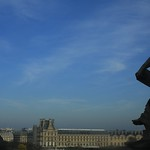 Paris  オルセー美術館からルーブル美術館を望む