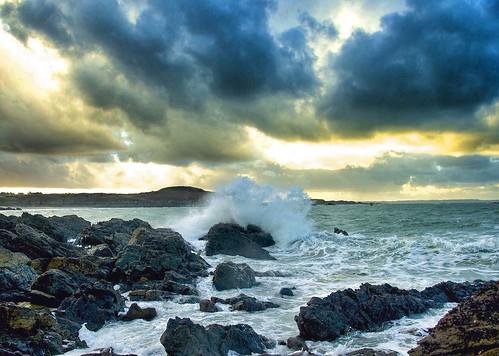 winter sea beach wave bretagne breizh longchamp bzh saintlunaire côtedémeraude gbillon