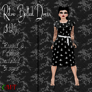 SC Retro Belted Dress - Unholy Ad