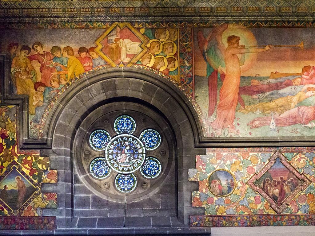 murals by phoebe anna traquair, in the mansfield traquair