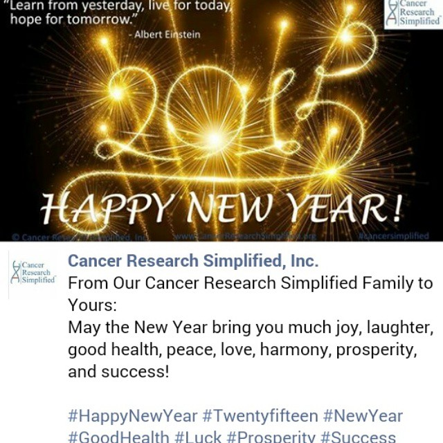 From Our Cancer Research Simplified Family to Yours: May t