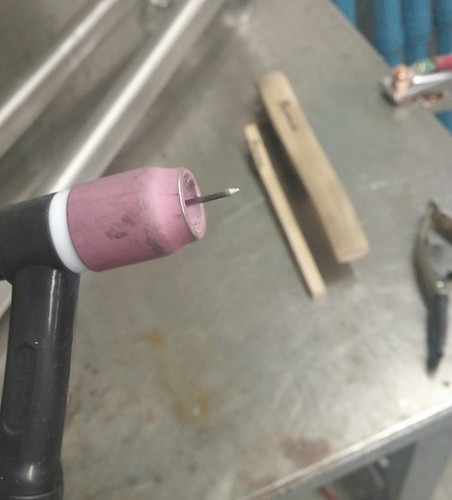 """1/16"""" 2% lanthanated after welding 
