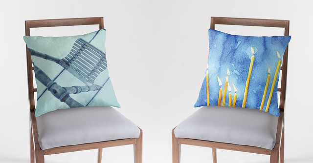 Throw Pillows for Redbubble