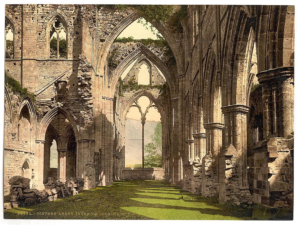 Tintern Abbey interior, looking E. (LOC)