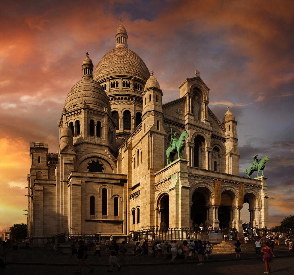 Sacre Coeur Basilica Of The Sacred Heart Of Paris Paris