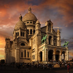 Sacre Coeur (Basilica of the Sacred Heart of Paris), Paris, France :: HDR