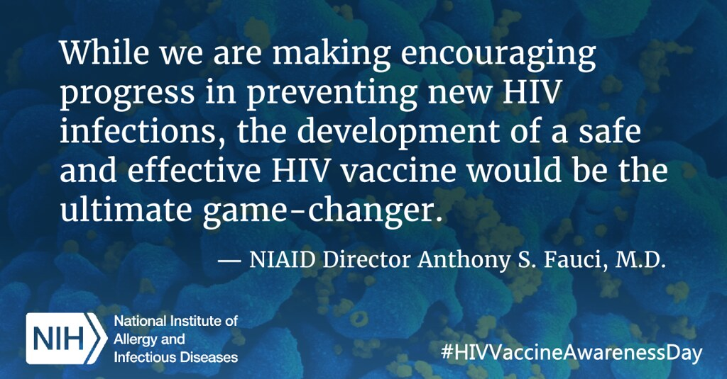 HIV Vaccine Awareness Day Quote By NIAID Director Anthony